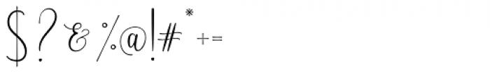 Scriptys Regular Font OTHER CHARS