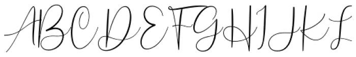 Scriptys Regular Font UPPERCASE