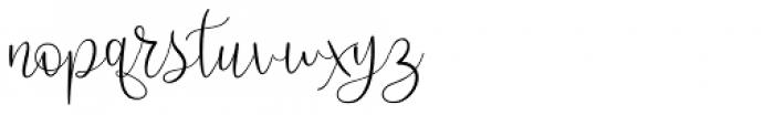 Scriptys Regular Font LOWERCASE