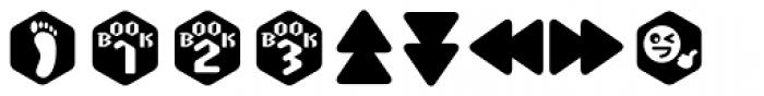 Scrotnig Hexes One Font UPPERCASE