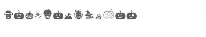 scary halloween dingbats Font UPPERCASE