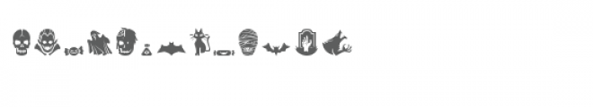 scary halloween dingbats Font LOWERCASE