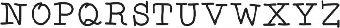 SDDTotTypewriter ttf (400) Font UPPERCASE