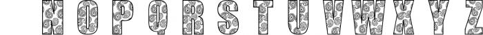 SDPaisley1 Font UPPERCASE