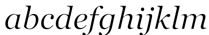 SD Georgia Light Demo Italic Font LOWERCASE
