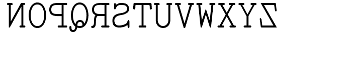 Sdrawkcab TOC Regular Font UPPERCASE