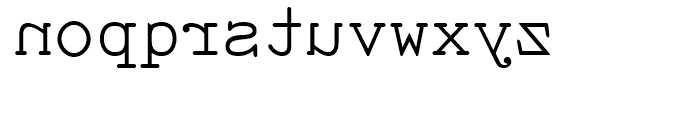 Sdrawkcab TOC Regular Font LOWERCASE