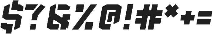 Sea Dog Bold Italic Stencil otf (700) Font OTHER CHARS