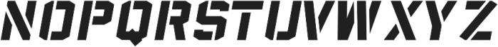 Sea Dog Bold Italic Stencil otf (700) Font LOWERCASE