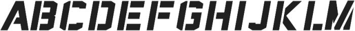Sea Dog Bold Italic Stencil ttf (700) Font LOWERCASE