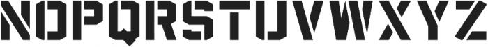 Sea Dog Bold Stencil ttf (700) Font UPPERCASE
