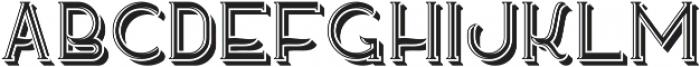 SeaSideFont LightShadow otf (300) Font LOWERCASE