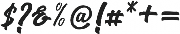 Seact Rough Regular otf (400) Font OTHER CHARS