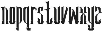 Seahorse Typeface otf (400) Font LOWERCASE