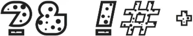 Sebasengan Dot otf (400) Font OTHER CHARS
