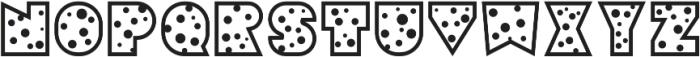 Sebasengan Dot otf (400) Font UPPERCASE