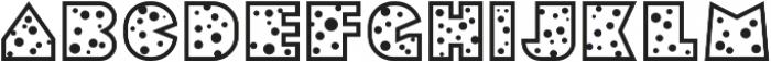 Sebasengan Dot otf (400) Font LOWERCASE