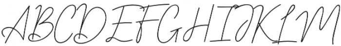 Sebastrian Script otf (400) Font UPPERCASE