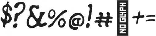 Secret Society Italic otf (400) Font OTHER CHARS