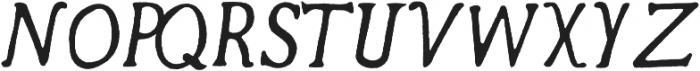 Secret Society Italic otf (400) Font UPPERCASE