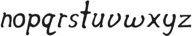 Secret Society Italic otf (400) Font LOWERCASE