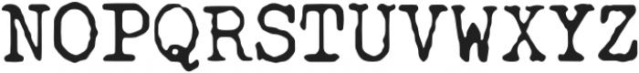 SecretaryTypewriter otf (400) Font UPPERCASE