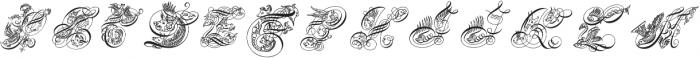 SeddonPenmansParadiseCapitals ttf (400) Font UPPERCASE