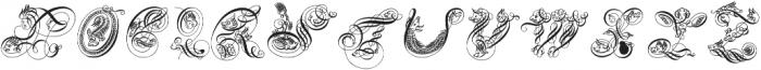 SeddonPenmansParadiseCapitals ttf (400) Font LOWERCASE