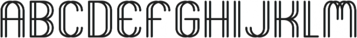 Seeing Double ttf (400) Font UPPERCASE