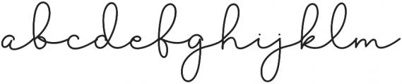 Sekira Regular otf (400) Font LOWERCASE