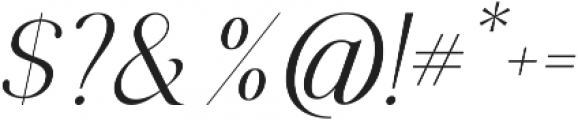 Selvina Italic otf (400) Font OTHER CHARS