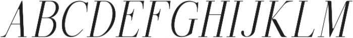 Selvina Italic otf (400) Font UPPERCASE