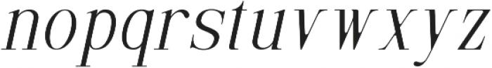 Selvina Italic otf (400) Font LOWERCASE