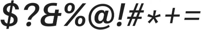 SemiBold Italic otf (600) Font OTHER CHARS