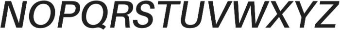 SemiBold Italic otf (600) Font UPPERCASE