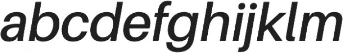 SemiBold Italic otf (600) Font LOWERCASE