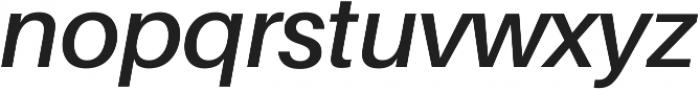 SemiBold Italic ttf (600) Font LOWERCASE
