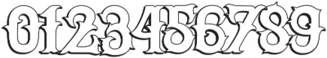 Senator Outline otf (400) Font OTHER CHARS