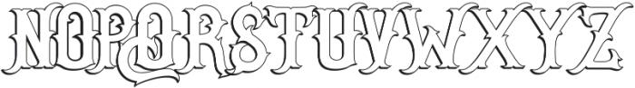 Senator Outline otf (400) Font UPPERCASE