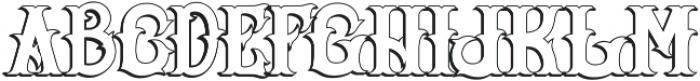 Senator Outline otf (400) Font LOWERCASE