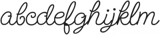 SendFlowers otf (400) Font LOWERCASE