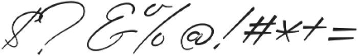 Senja Script otf (400) Font OTHER CHARS
