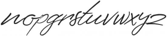 Senja Script otf (400) Font LOWERCASE