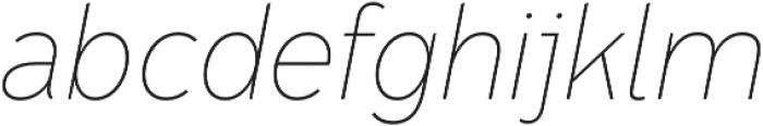 Senkron Blok Thin Obl otf (100) Font LOWERCASE