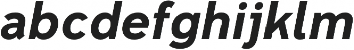 Senkron Bold Obl otf (700) Font LOWERCASE