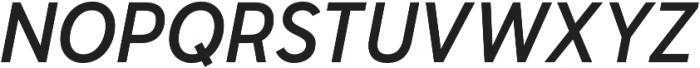 Senkron Medium Obl otf (500) Font UPPERCASE