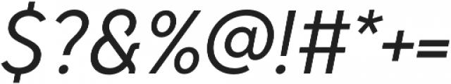 Senkron Regular Obl otf (400) Font OTHER CHARS