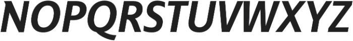 Senlot Sans Norm ExBold Italic otf (700) Font UPPERCASE
