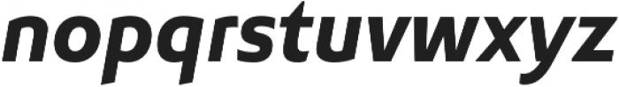 Senlot Sans Norm ExBold Italic otf (700) Font LOWERCASE