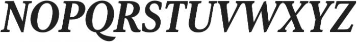 Senlot Serif Cond Black Italic otf (900) Font UPPERCASE